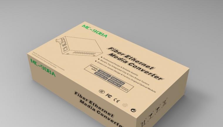 MC光收发器英文包装设计