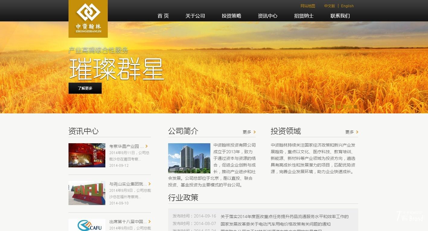 中资翰林投资企业网站定制