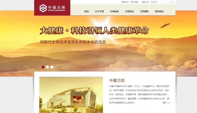 中基万邦投资公司网站定制