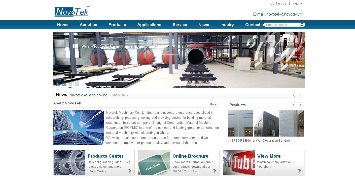 Novotek Machinery外贸网站定制
